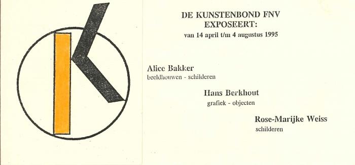 De Kunstenbond, FNV,1995