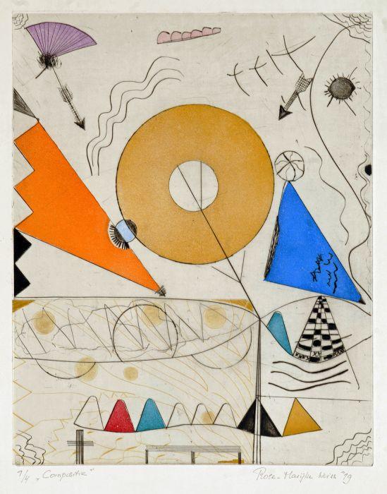 ets , beeldformaat 40 x 50 cm ,papierformaat 70 x 54 cm, opl. 4