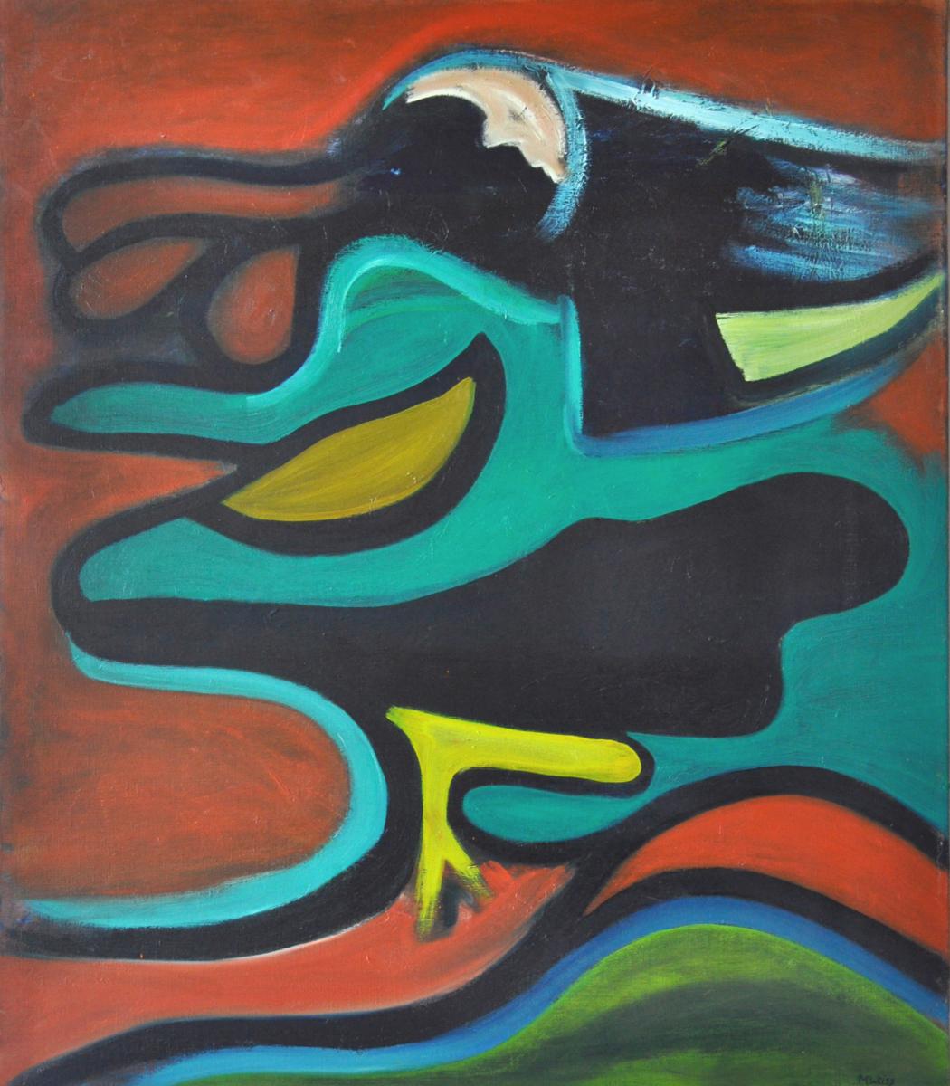olie  op doek, 100 x 120 cm, 1989